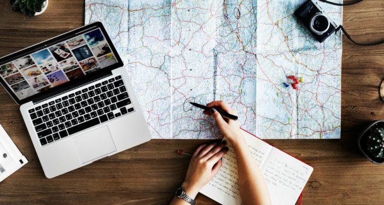 Planejamento de intercâmbio para estudar fora do País.
